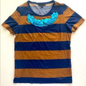 Burberry T-Shirt with stone embellishments